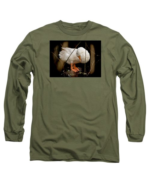 Long Sleeve T-Shirt featuring the photograph Final Touches by E Faithe Lester