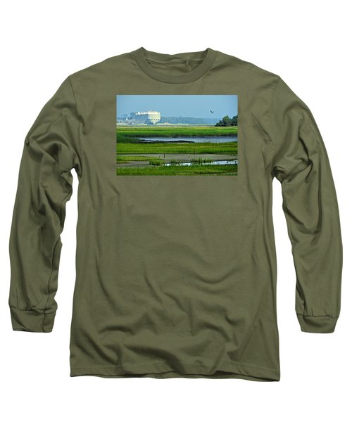 Long Sleeve T-Shirt featuring the photograph Finding Balance by Laura Ragland