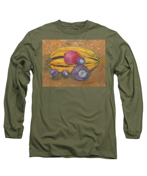 Fingerpainted Fruit Long Sleeve T-Shirt