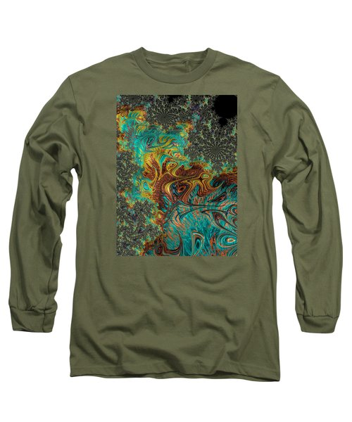 Fire And Ice Long Sleeve T-Shirt by Ronda Broatch