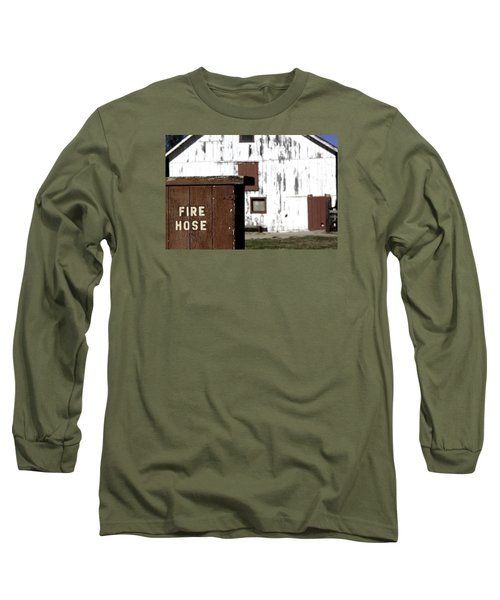Long Sleeve T-Shirt featuring the photograph Fire Hose by Lora Lee Chapman