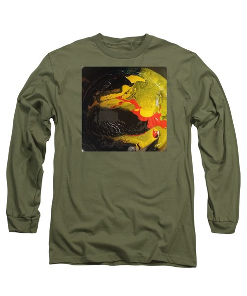 Fire In Soot Long Sleeve T-Shirt