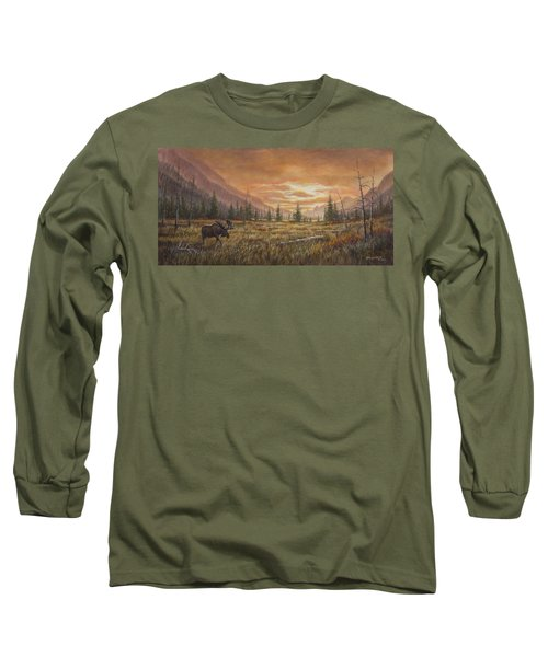 Long Sleeve T-Shirt featuring the painting Fire In The Sky by Kim Lockman