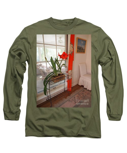 Long Sleeve T-Shirt featuring the photograph First There Was Red by Nancy Kane Chapman