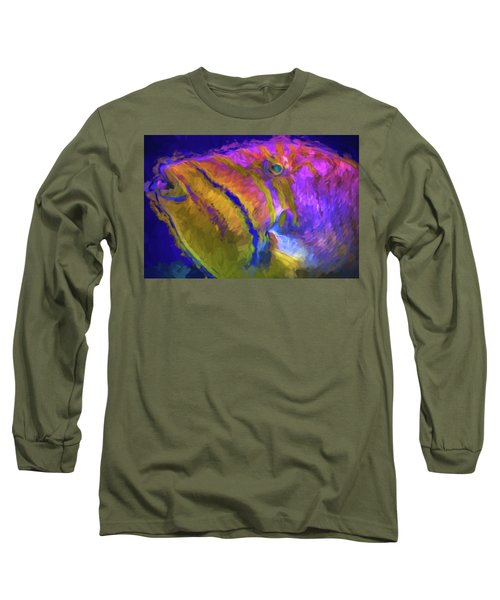 Long Sleeve T-Shirt featuring the photograph Fish Paint Dory Nemo by David Haskett