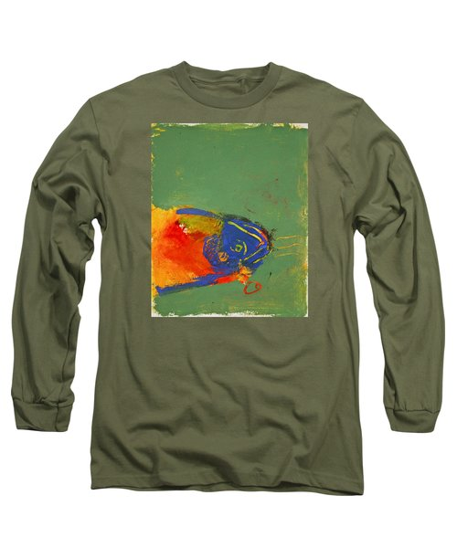 Fish Pondering The Anomaly Of Mans Anamnesis Long Sleeve T-Shirt by Cliff Spohn