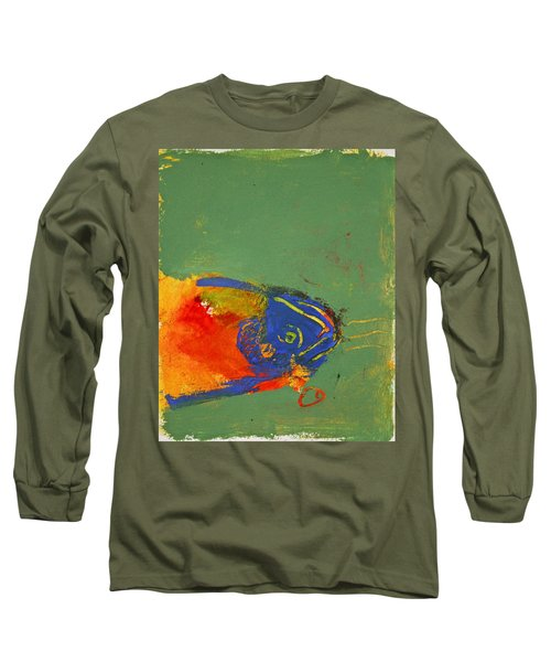 Fish Pondering The Anomaly Of Mans Anamnesis Long Sleeve T-Shirt