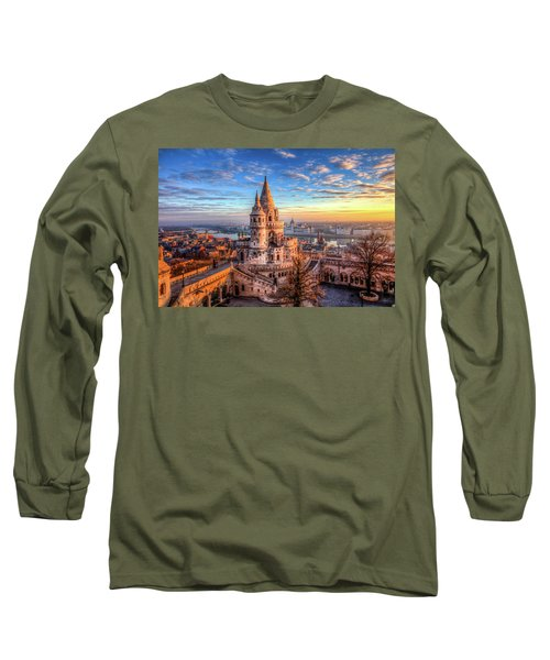Fisherman's Bastion In Budapest Long Sleeve T-Shirt