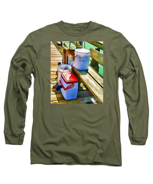 Fisherman's Buckets Long Sleeve T-Shirt by Rena Trepanier