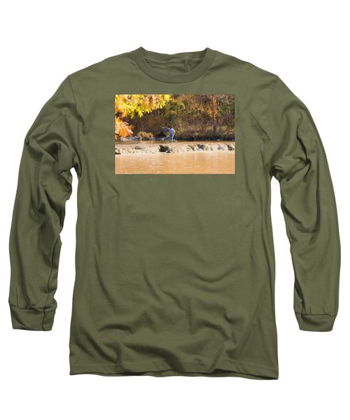 Long Sleeve T-Shirt featuring the photograph Fishing In Fall by Sheila Brown