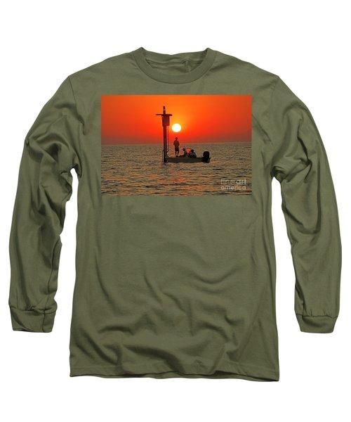 Fishing In Lacombe Louisiana Long Sleeve T-Shirt by Luana K Perez