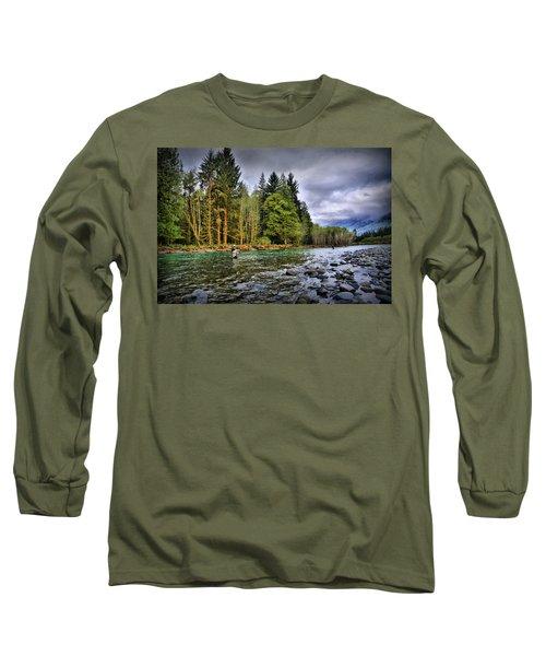 Fishing The Run Long Sleeve T-Shirt