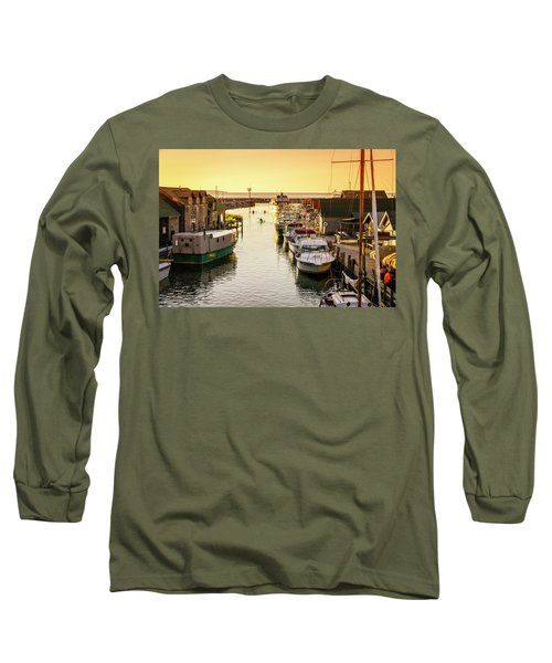 Long Sleeve T-Shirt featuring the photograph Fishtown by Alexey Stiop