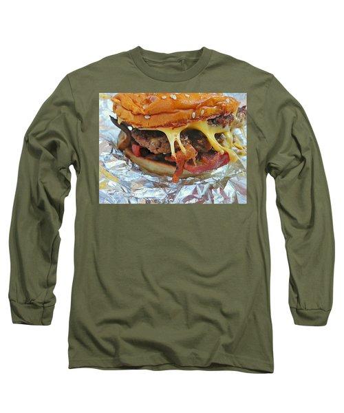 Long Sleeve T-Shirt featuring the photograph Five Guys Cheeseburger by Robert Knight