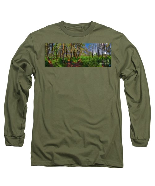 Paths, Pines 360 Long Sleeve T-Shirt