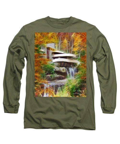 Fixer Upper - Frank Lloyd Wright's Fallingwater Long Sleeve T-Shirt by John Robert Beck