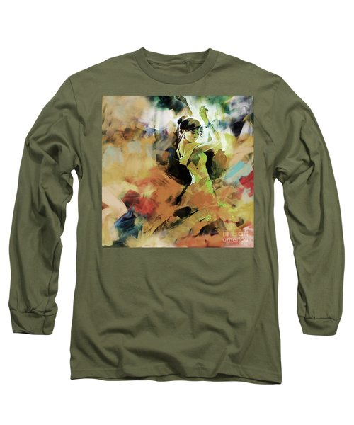 Long Sleeve T-Shirt featuring the painting Flamenco 56y3 by Gull G