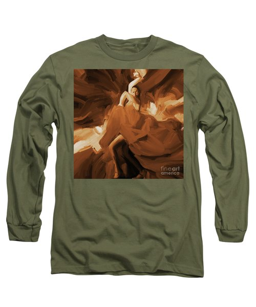 Long Sleeve T-Shirt featuring the painting Flamenco Flamenco  by Gull G
