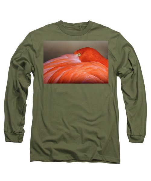 Long Sleeve T-Shirt featuring the photograph Flamingo by Michael Hubley