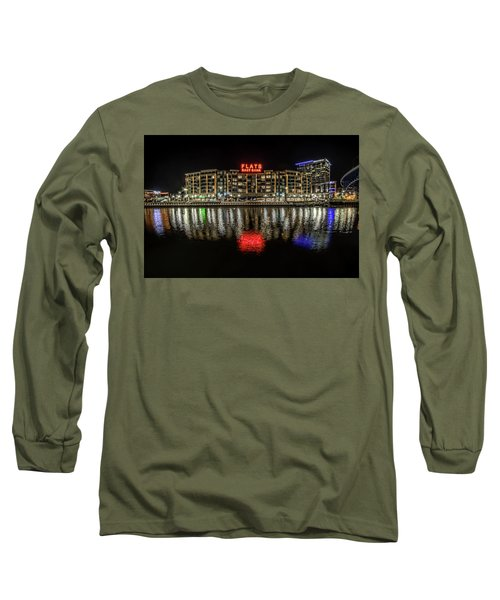 Long Sleeve T-Shirt featuring the photograph Flats East Bank by Brent Durken