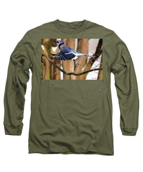 Flight Of The Blue Jay Long Sleeve T-Shirt