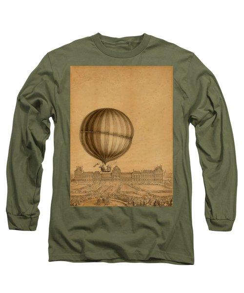 Flight Over Paris Long Sleeve T-Shirt