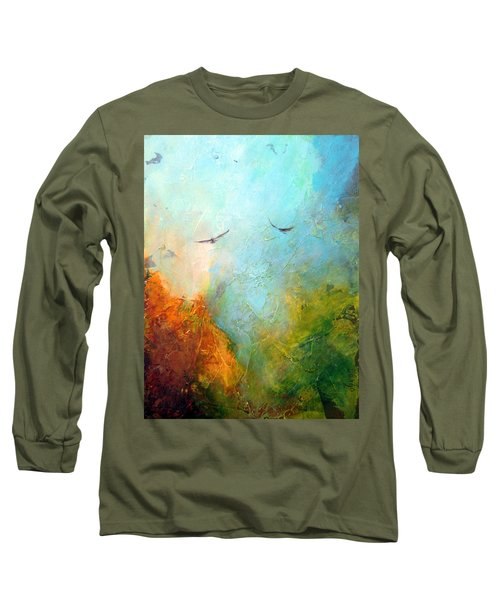 Flights Of Fancy Long Sleeve T-Shirt by Dina Dargo