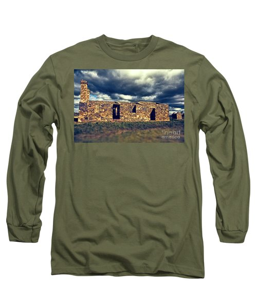 Flinders Ranges Ruins V2 Long Sleeve T-Shirt by Douglas Barnard
