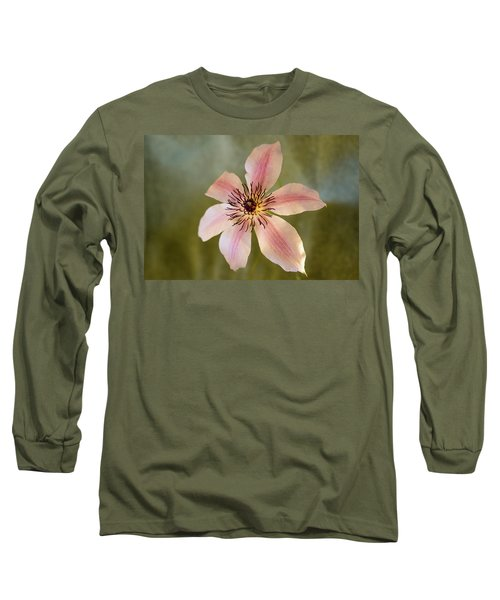 Floating Clematis Blossom Long Sleeve T-Shirt
