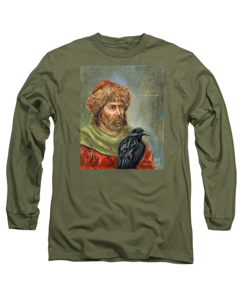 Floki Vilgerdarson Long Sleeve T-Shirt by Arturas Slapsys