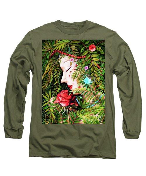 Flora-da-vita Long Sleeve T-Shirt by Igor Postash