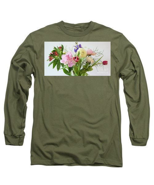 Long Sleeve T-Shirt featuring the photograph Floral Display by Wendy Wilton