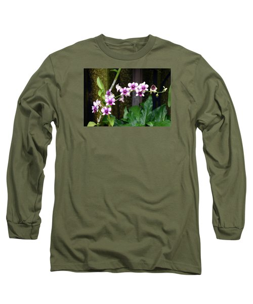 Long Sleeve T-Shirt featuring the photograph Floral Sway by Deborah  Crew-Johnson