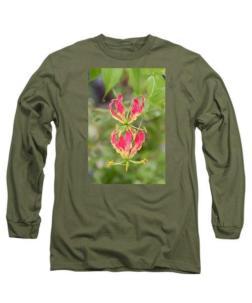 Floral Twirlers Long Sleeve T-Shirt by Deborah  Crew-Johnson