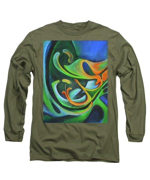 Floralblue Long Sleeve T-Shirt