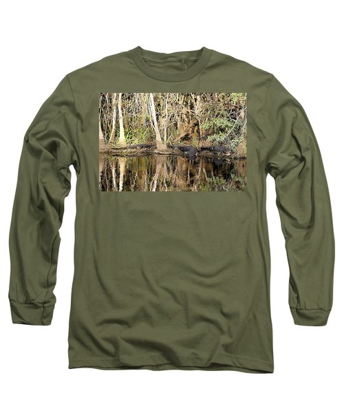 Long Sleeve T-Shirt featuring the photograph Florida Gators - Everglades Swamp by Jerry Battle