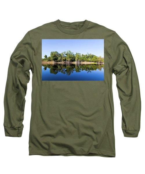 Florida Lake And Trees Long Sleeve T-Shirt