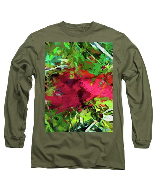 Flower Christmas Red Green Pink Long Sleeve T-Shirt