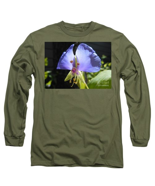 Flower Face Long Sleeve T-Shirt by Felipe Adan Lerma