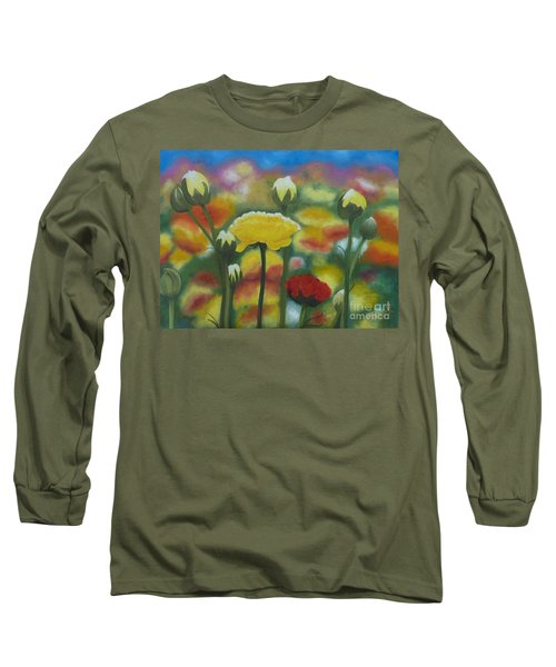 Flower Focus Long Sleeve T-Shirt