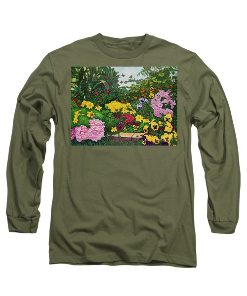 Flower Garden Xii Long Sleeve T-Shirt by Michael Frank
