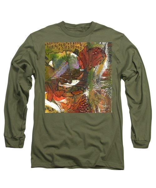 Flower In The Tropics Long Sleeve T-Shirt by Angela L Walker