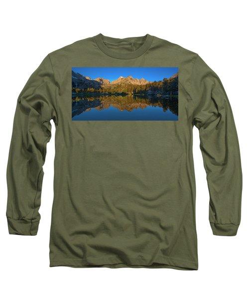Flower Lake Panorama Long Sleeve T-Shirt