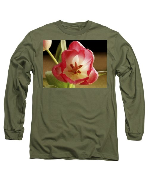 Long Sleeve T-Shirt featuring the photograph Flower Tulip by Nancy Griswold