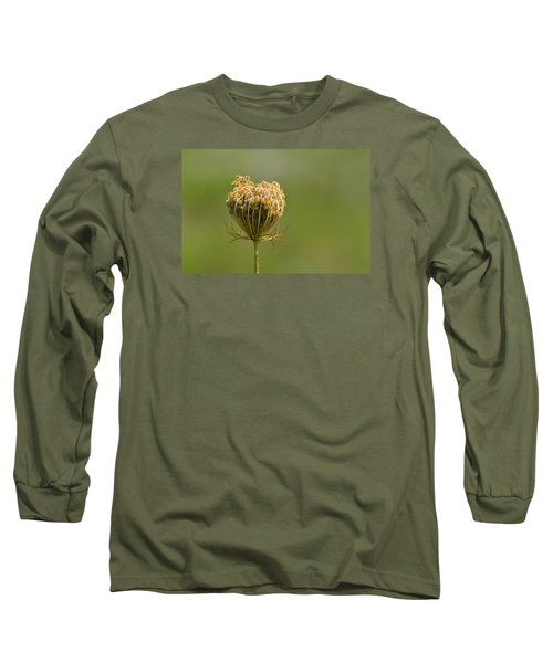 Long Sleeve T-Shirt featuring the photograph Flower Turning Into A Seed Pod Dispenser 2  by Lyle Crump