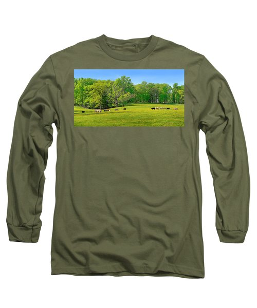 Flowering Cow Pasture Long Sleeve T-Shirt