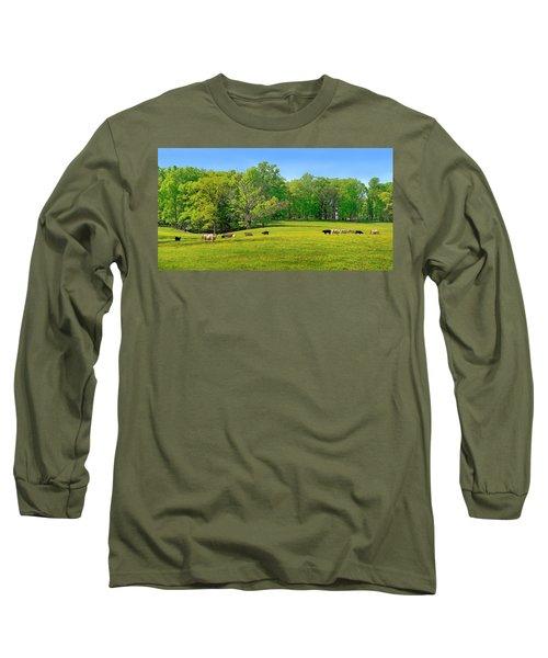 Flowering Cow Pasture Long Sleeve T-Shirt