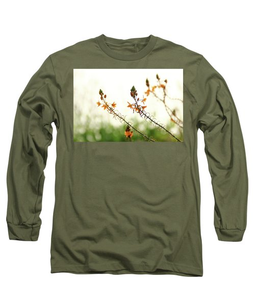 Long Sleeve T-Shirt featuring the photograph Flowering In Israel At The Sunset by Yoel Koskas