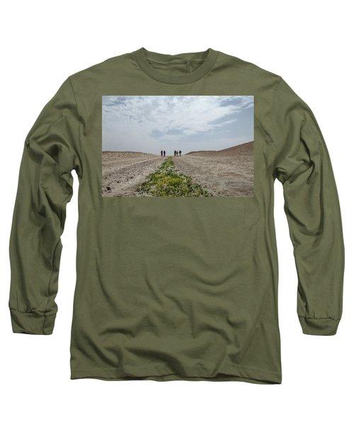 Flowering In The Desert Long Sleeve T-Shirt by Yoel Koskas