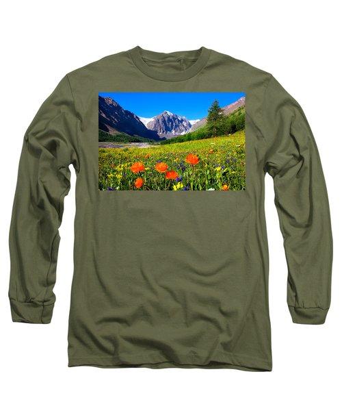 Flowering Valley. Mountain Karatash Long Sleeve T-Shirt
